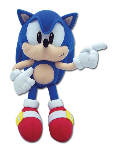 Classic Sonic Sonic Plush, an officially licensed Sonic product at B.A. Toys.