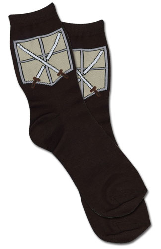 Attack On Titan - Cadet Corps Emblem Socks, an officially licensed Attack on Titan Accessory