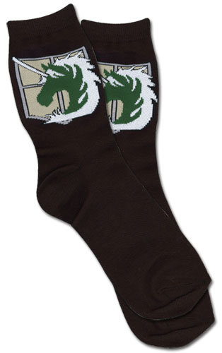 Attack On Titan - Military Police Regiment Emblem Socks, an officially licensed product in our Attack On Titan Costumes & Accessories department.