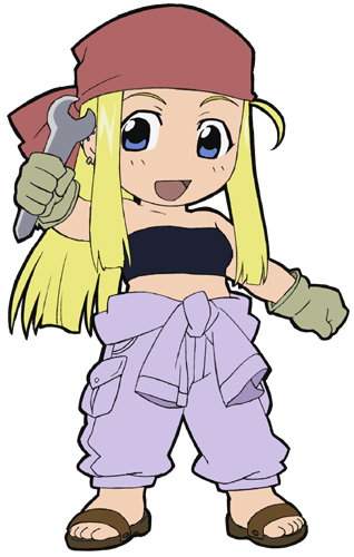 Fullmetal Alchemist Winry Patch officially licensed product at B.A. Toys.
