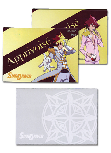 Star Driver Tsunashi Memo Pad officially licensed Star Driver Stationery product at B.A. Toys.