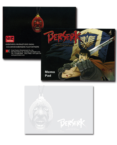 Berserk Memo Pad, an officially licensed product in our Berserk Stationery department.