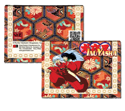 Inuyasha Inuyasha & Kagome Memo Pad officially licensed Inuyahsa Stationery product at B.A. Toys.