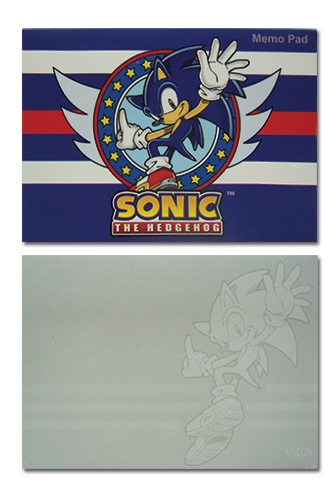 Sonic The Hedgehod Memo Pad officially licensed Sonic Stationery product at B.A. Toys.