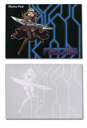 Freezing Satellizer Memo Pad, an officially licensed Freezing Stationery