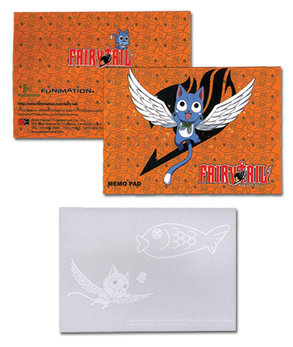 Fairy Tail Happy Memo Pad officially licensed Fairy Tail Stationery product at B.A. Toys.