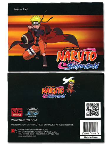 Naruto Shippuden Memo Pad officially licensed Naruto Shippuden Stationery product at B.A. Toys.