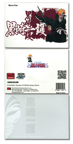 Bleach Ichigo Memo Pad officially licensed Bleach Stationery product at B.A. Toys.