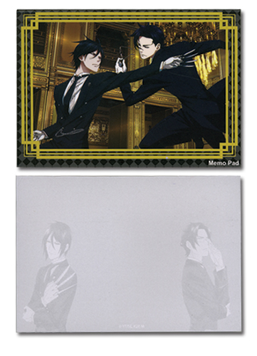 Black Butler 2 Sebastian & Claude Memo Pad officially licensed Black Butler Stationery product at B.A. Toys.