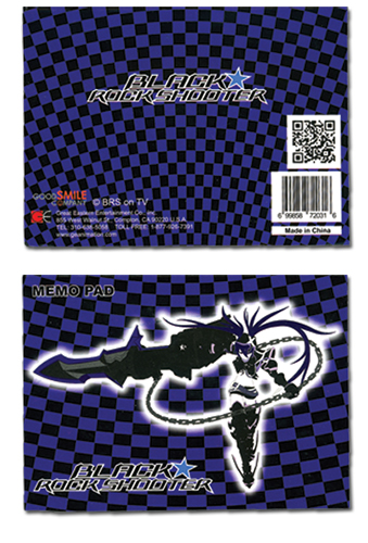 Black Rock Shooter Ibrs Memo Pad, an officially licensed Black Rock Shooter product at B.A. Toys.