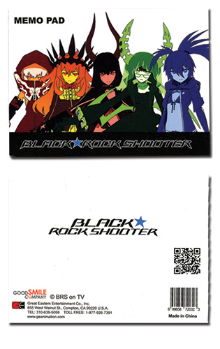 Black Rock Shooter Group Memo Pad, an officially licensed Black Rock Shooter product at B.A. Toys.