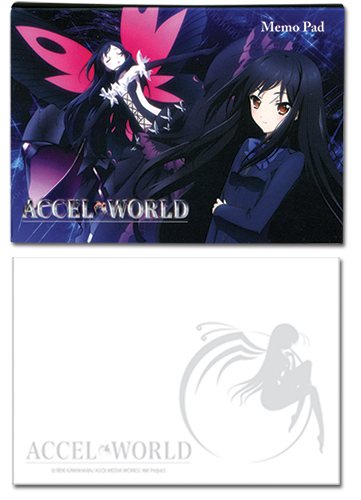 Accel World Kuroyukihime Memo Pad, an officially licensed Accel World product at B.A. Toys.