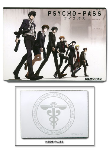 Psycho Pass - Safety Bureau Memo Pad officially licensed Psycho Pass Stationery product at B.A. Toys.