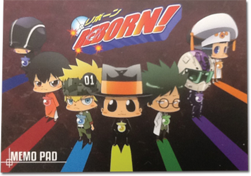 Reborn! - Arcobaleno Memo Pad officially licensed Reborn! Stationery product at B.A. Toys.