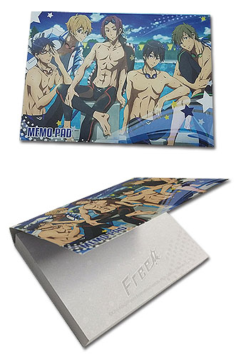Free! - Group Memo Pad officially licensed Free! Stationery product at B.A. Toys.