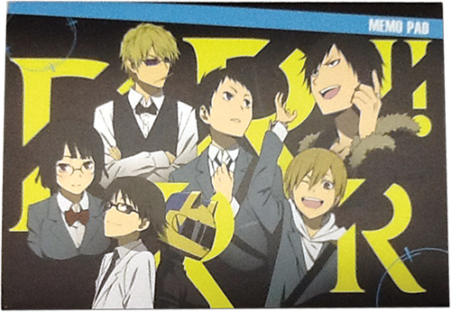 Durarara!! - Group Memo Pad officially licensed Durarara!! Stationery product at B.A. Toys.
