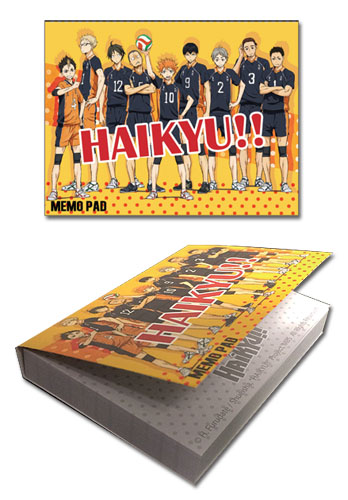 Haikyu!! - Group Memo Pad officially licensed Haikyu!! Stationery product at B.A. Toys.