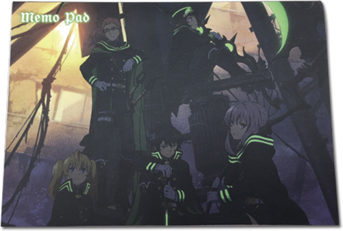 Seraph Of The End - Shinoa Squad Memo Pad, an officially licensed product in our Seraph Of The End Stationery department.