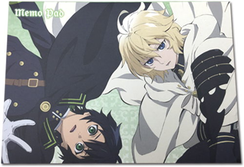Seraph Of The End - Yuichiro & Mikaela Memo Pad officially licensed Seraph Of The End Stationery product at B.A. Toys.