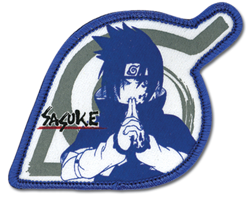 Naruto Sasuke Leaf Village Patch officially licensed product at B.A. Toys.