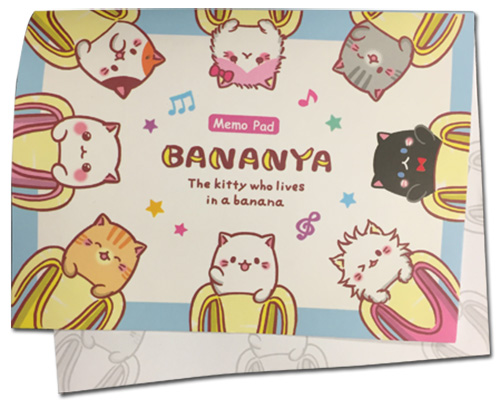 Bananya - Bananya Group Memo Pad officially licensed Bananya Stationery product at B.A. Toys.