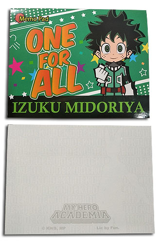 My Hero Academia - Deku Memo Pad officially licensed My Hero Academia Stationery product at B.A. Toys.