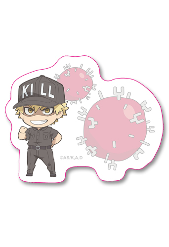 Cells At Work! - Sd Killer T-Cell Die-Cut Memo Pad officially licensed Cells At Work! Stationery product at B.A. Toys.