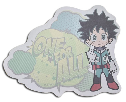 My Hero Academia - Sd Deku Die-Cut Memo Pad officially licensed My Hero Academia Stationery product at B.A. Toys.