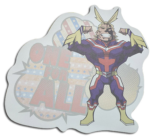 My Hero Academia - All Might Die-Cut Memo Pad officially licensed My Hero Academia Stationery product at B.A. Toys.