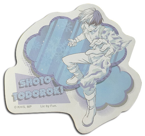 My Hero Academia - Shoto Todoroki Die-Cut Memo Pad officially licensed My Hero Academia Stationery product at B.A. Toys.