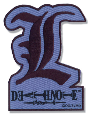 Death Note L Letter Patch, an officially licensed Death Note Patch