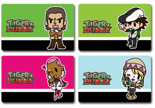 Tiger & Bunny Postcards Kotetsu, Karina, Nathan, And Antonio, an officially licensed product in our Tiger & Bunny Stationery department.
