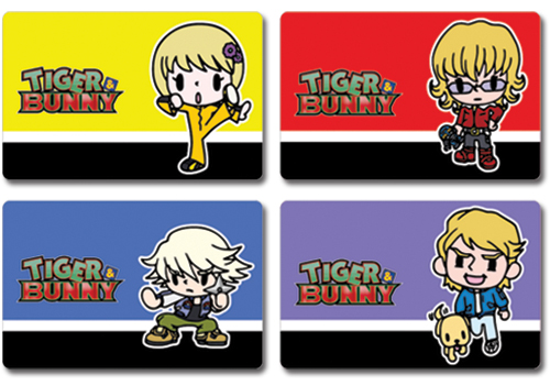 Tiger & Bunny Postcards Barnaby, Ivan, Keith, And Pao-Lin officially licensed Tiger & Bunny Stationery product at B.A. Toys.