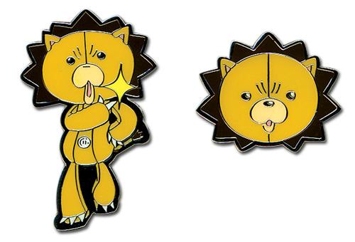 Bleach Kon Wazzup & Head Pin Set, an officially licensed Bleach product at B.A. Toys.