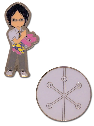 Bleach Uryu & Quincy Mark Metal Pin Set, an officially licensed product in our Bleach Pins & Badges department.