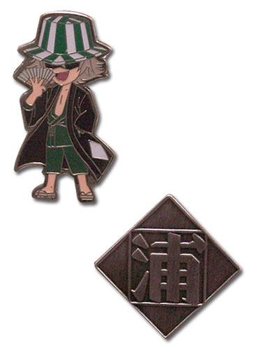 Bleach Kisuke Urahara Icon Pin Set, an officially licensed Bleach product at B.A. Toys.