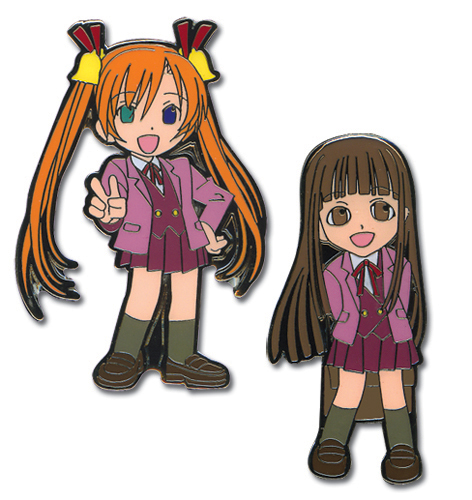 Negima Asuna & Konoka Pin Set, an officially licensed product in our Negima Pins & Badges department.