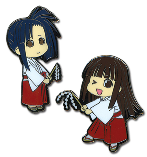 Negima Konoka & Setsuna Pin Set, an officially licensed product in our Negima Pins & Badges department.