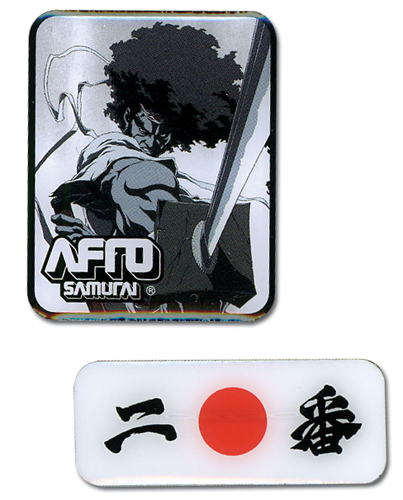 Afro Samurai Afro Pin Set, an officially licensed Afro Samurai Pin / Badge