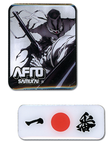 Afro Samurai Justice Pin Set, an officially licensed Afro Samurai product at B.A. Toys.