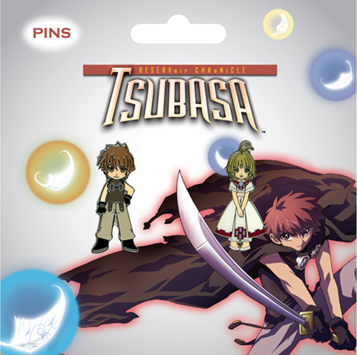 Tsubasa Sakura & Sya Pin Set, an officially licensed product in our Tsubasa Pins & Badges department.
