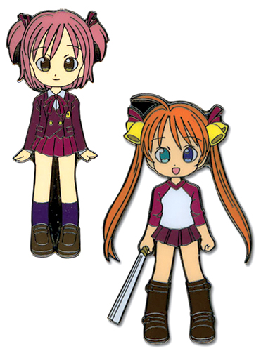 Negima Asuna & Makie Metal Pin Set, an officially licensed product in our Negima Pins & Badges department.