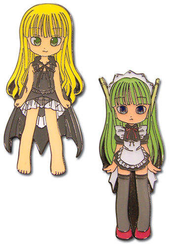 Negima Eva, Chacha Moru Metal Pin Set, an officially licensed product in our Negima Pins & Badges department.