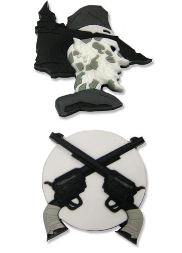 Afro Samurai Justice Pistols Pin Set, an officially licensed Afro Samurai product at B.A. Toys.