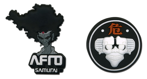 Afro Samurai Afro & Afro Droid Pin Set, an officially licensed Afro Samurai product at B.A. Toys.