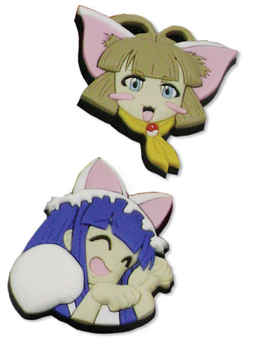 Moon Phase Hazuki & Haiji Pvc Pin Set, an officially licensed product in our Moon Phase Pins & Badges department.