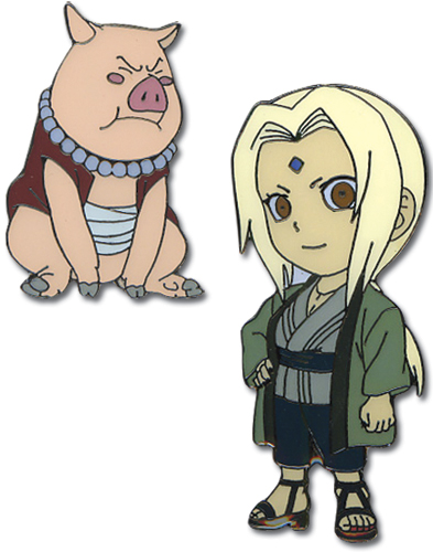 Naruto Tsunade & Tonton Metal Pin Set, an officially licensed product in our Naruto Pins & Badges department.