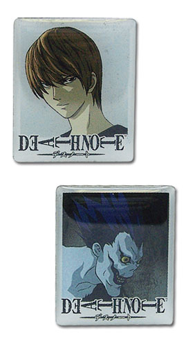 Death Note Light & Ryuk Metal Pin Set, an officially licensed Death Note Pin / Badge