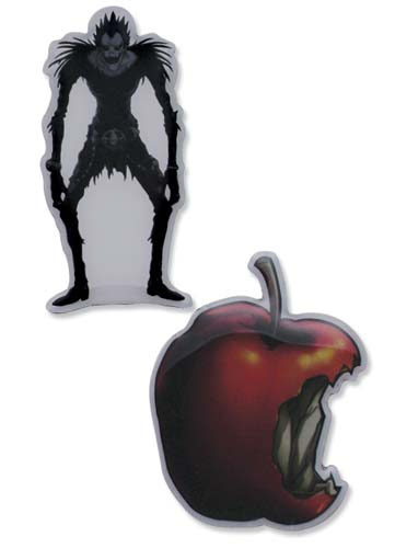 Death Note Ryuk And Apple Pin Set, an officially licensed Death Note Pin / Badge