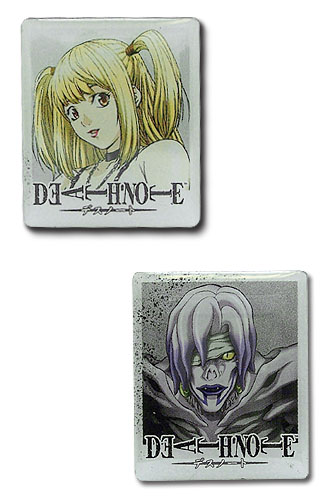 Death Note Misa & Rem Metal Pin Set, an officially licensed product in our Death Note Pins & Badges department.